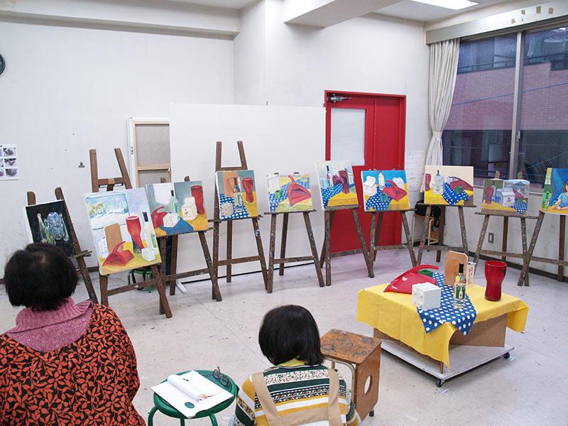 火曜絵画教室講評会