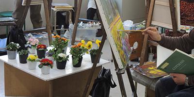 今日の火曜絵画教室