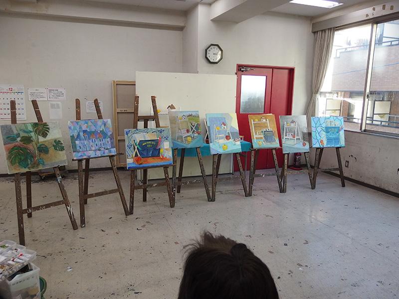 火曜油絵教室の講評会