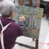 油絵クラス日曜コース油絵に取り組む生徒さん